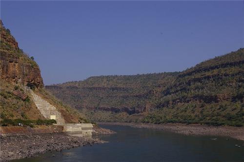 Krishna River in Srisailam