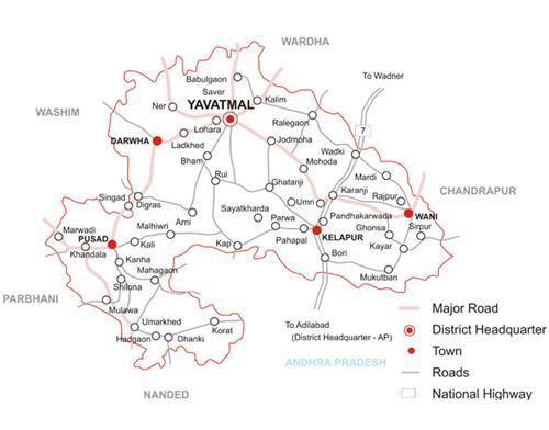 district map of yavatmal