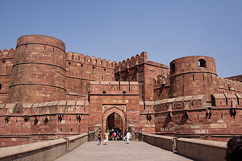 Agra fort- a classic instance of Mughal architecture