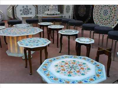 Marble and stone handicrafts in Agra