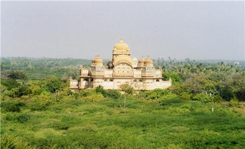 A splendid view of Vijay Vilas Palace in Mandvi near Ahmedabad