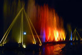 Musical Dance Fountains in Gujarat Science Center Ahmedabad