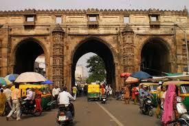 Teen Darwaza Market Place in Ahmedabad