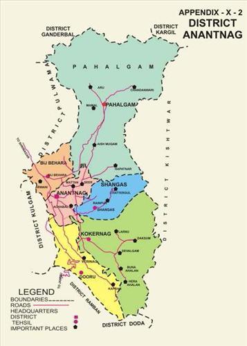 Administrative set up in Anantnag