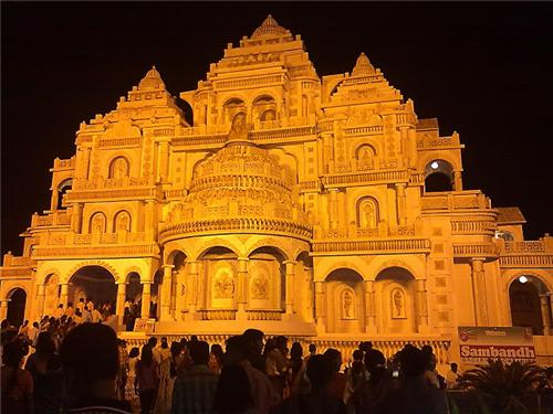 Pandals of Durga Puja in Balurghat