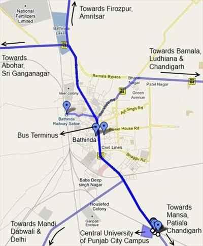 Localities in Bathinda