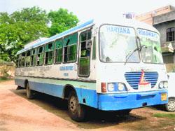 Bus transport in Bhiwani
