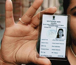 Voter ID card in Bhopal