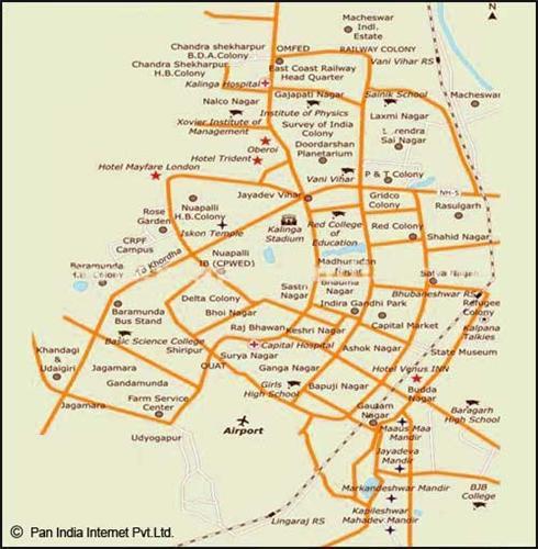 Bhubaneswar Road Map