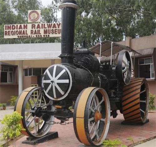 A train model kept outside the regional railway station in Chennai