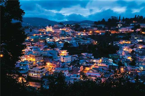 View of Coonoor at Night