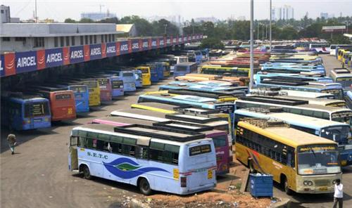 The Chennai Mofussil Bus Terminus Parking Capacity