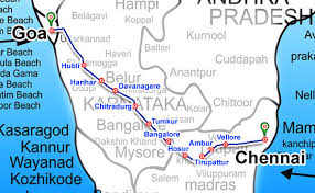 Distance from Chennai