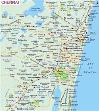 Topology of Chennai