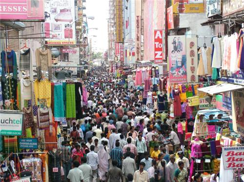 T Nagar in Chennai