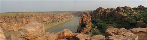 The Penna River at Gandikota Region