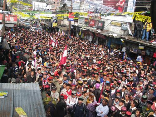 Recent political Rally at Chowk Bazaar