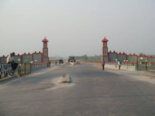 The cantonment gate at Khaprail