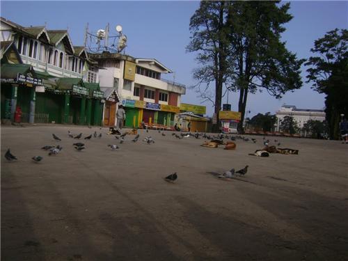 The Chowrasta Mall in Darjeeling