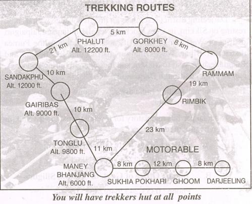 Trekking Route To Sandakphu And Back