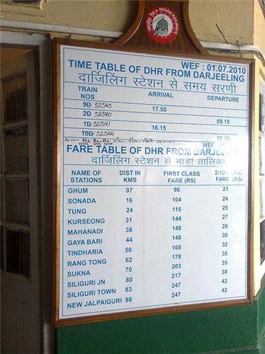 Notice Board At Darjeeling Railway Station