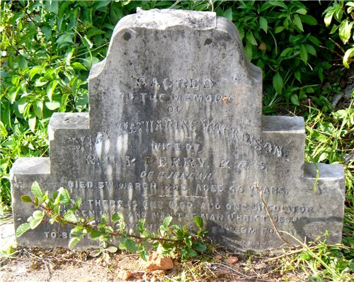 Grave Stones in the Old Cemetry
