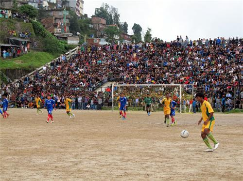 Football Game in Progress in Darjeeling