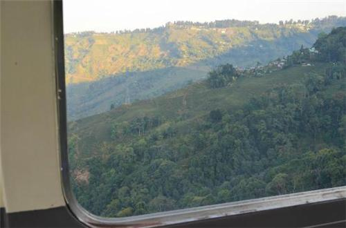 From inside the Darjeeling-Rangeet Valley Passenger Cable Car