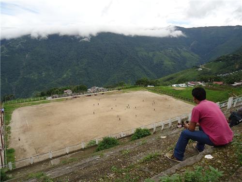 Gorkha Football Stadium near Darjeeling