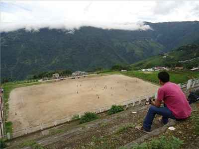 Gorkha Football Stadium near Darjeeling