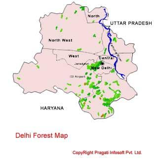 Delhi Forest Map