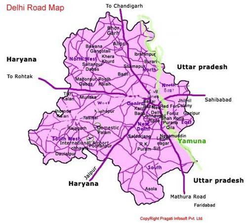 Delhi Road Map