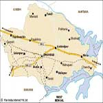 Dhanbad Physical Map