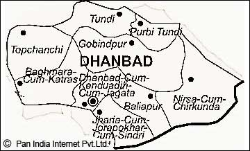 Map of Dhanbad