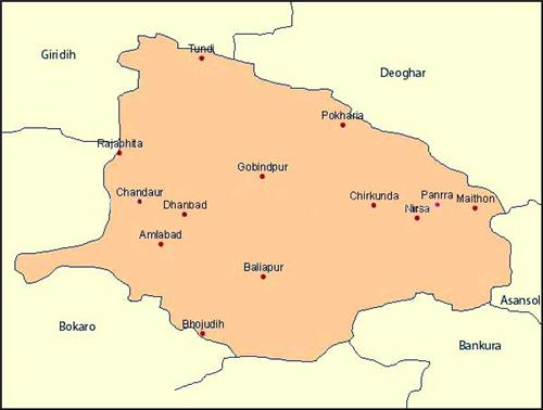 Geography of Dhanbad