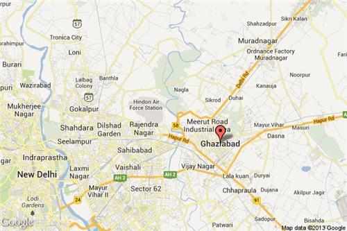 Map of Ghaziabad