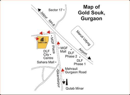 Gold Souk map