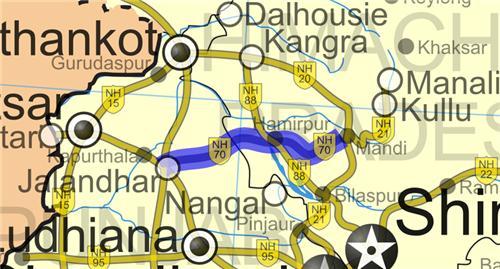 National Highway in Hamirpur