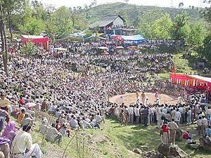 Wrestling Competion in Matten Sidh near Hamirpur