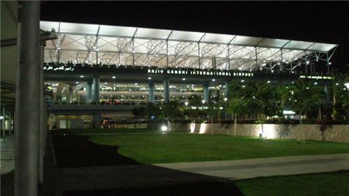 Rajiv Gandhi International airport in Hyderabad