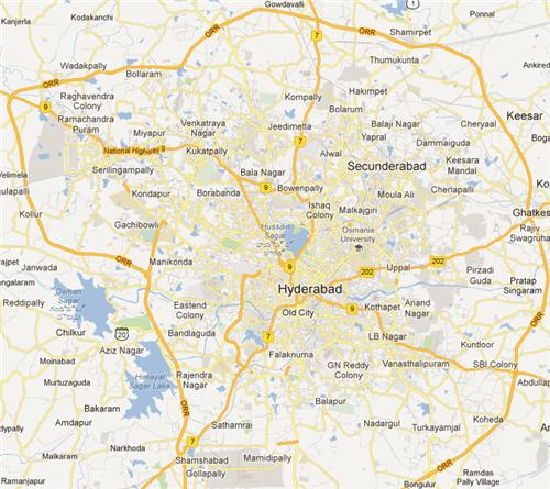 greater hyderabad map