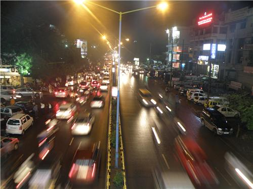 Busy MG Road in INdore