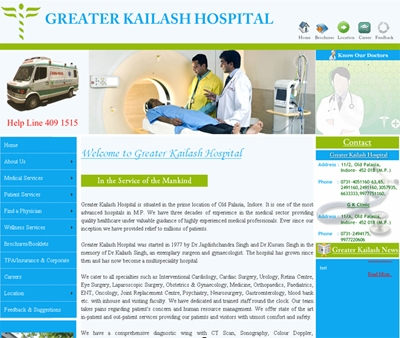 Greater Kailash Hospital in Indore