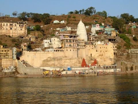Ghats at Omkareshwar Temple
