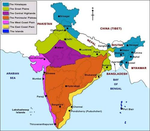 Physiographic Regions of India