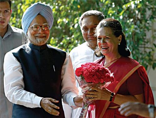 Manmohan and Sonia Gandhi