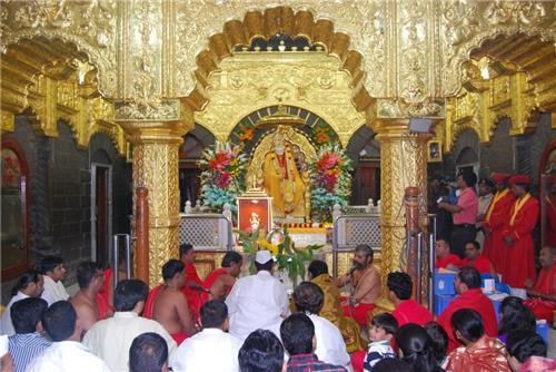 Sai Baba in Shirdi, Maharashtra