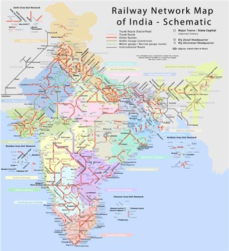 Railway Network Map