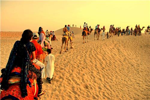 Camping In Sand dunes, Thar Desert For Cheap Holiday Destination India