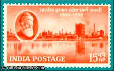 Stamp in honour of the founder Jamshetji Tata